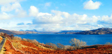 Loch Tuath and Ben Mor in winter
